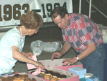 Barbara Schatz Saye & Trent Williams at MCHS Alumni Breakfast,  8/31/03