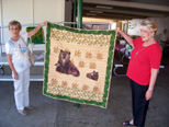 Quilt made by Bev Baker Williams ('57) was the most wanted raffle prize