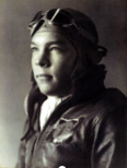 Don Hoff, class of 1940, in World War II fight gear