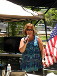Norma Sandlin delivers a tribute to her late father, Jim Turner