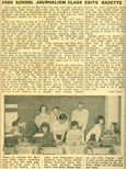 1955-56 MCHS Sluice staff works at Gazette